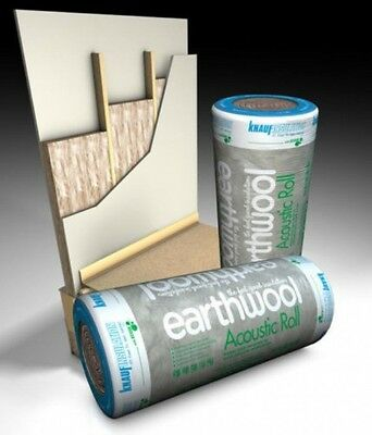 100mm APR Knauf Acoustic Insulation Partition Wall Floor Roll 11m² Earthwool