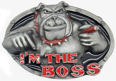 'I'm The Boss' Pewter Belt Buckle