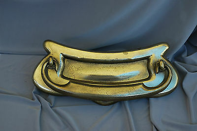 Brass Letterbox  Old Heacy Weight Quality Brass Letterbox