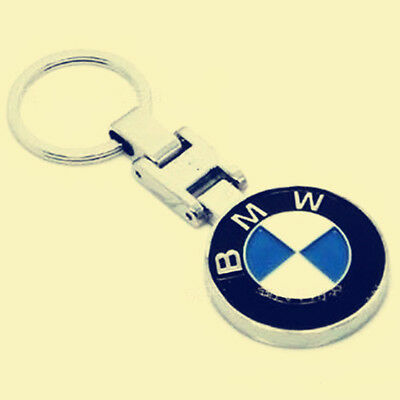 Premium 3D Chrom BMW Logo Symbol Car Keychain Keyring Metal Alloy Key Chains H