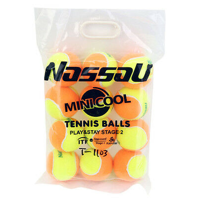 Orange Regular Duty Tennis Game Balls Stage2 12-Balls Pack Approvedl Ball Boy