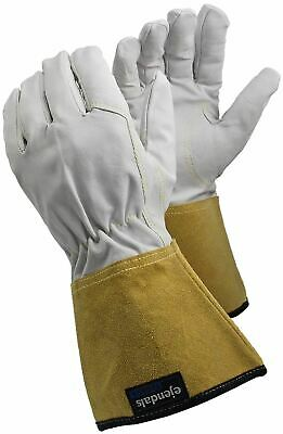 TEGERA Ultra Lightweight Tig Mig Leather Welding Heat Work Gloves S M L XL XXL