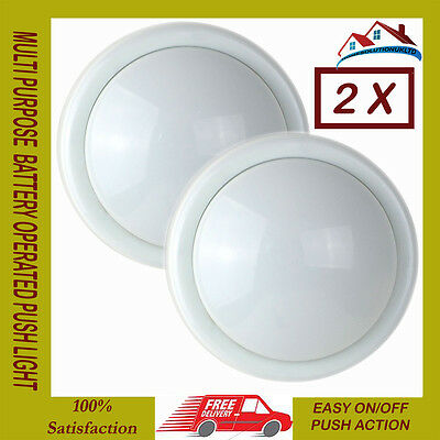 2 X New Milti Purpose Touch Light Battery Operated Cupboard Garage Under Stairs
