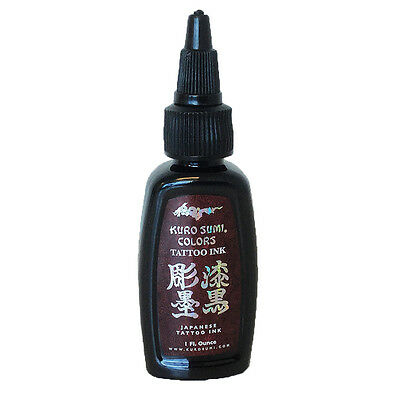 Authentic Kuro Sumi Double Sumi Tribal Black Japanese Tattoo ink 1oz MADE IN USA