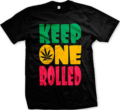 Keep One Rolled Joint Marijuana Mary J Smoking Doobie Mens T-shirt