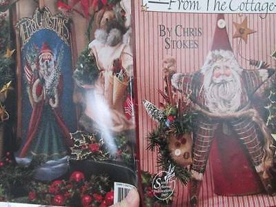 Christmas From The Cottage Painting Book- Chris Stokes- Santas/Snowmen