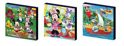 MICKEY MOUSE CLUBHOUSE set d CANVAS ART BLOCKS/ WALL ART PLAQUES/PICTURES