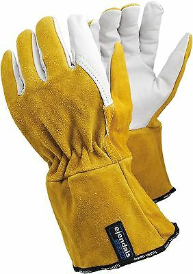TEGERA 118A Heat Resistant Leather Tig Mig Welding Work Gloves S M L XL XXL 3XL
