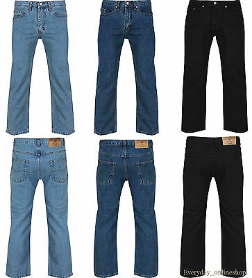 "Brand New Mens Straight Leg Boys Work Branded Fashion Denim Jeans Sizes 30""-50"