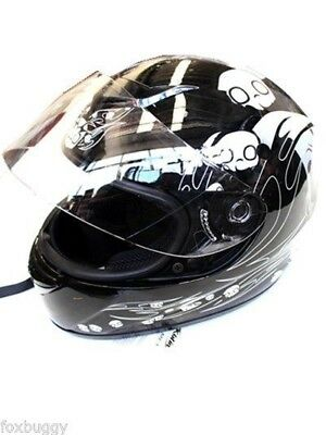 Black Full Face Road Adult Helmet As1698 Gokarting Road Bike Motorsport