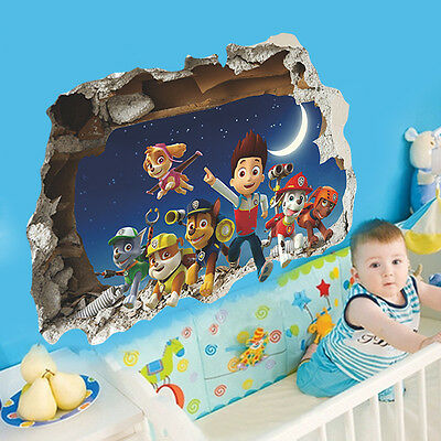 """paw patrol figures boys 3D pictorial decal  DIY Wall Decals sticker 27x20"""""""