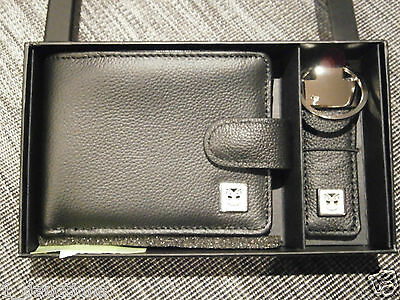 New Nrl New Zealand Warriors Leather Wallet & Keyring Gift Box Official Item
