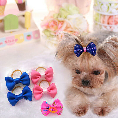LOT 100 PCS Handmade Designer Pet Dog Accessories Grooming Hair Bows For Dogs