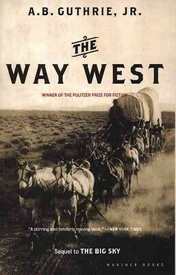 The Way West by Alfred Bertram Jr. Guthrie Paperback Book (English)