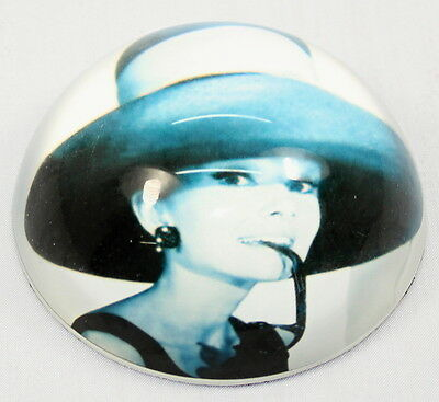Audrey Hepburn Glass Paperweight