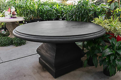 GRC Outdoor Garden Patio Furniture Normandy Round Concrete Table Charcoal Black