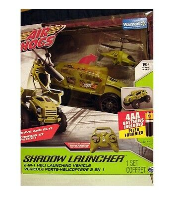 Air Hogs - Shadow Launcher Car Copter - Green box is dented
