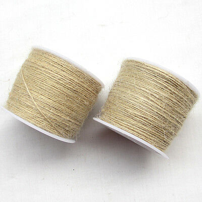 1Roll (100M)Twisted Burlap Jute Twine Rope Natural Hemp Linen Cord String