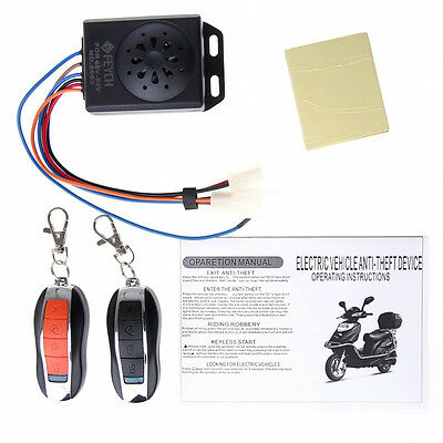 Waterproof Motorcycle Anti-theft Security Scooter Remote Host Alarm System