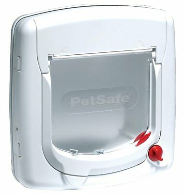 Petsafe Staywell Deluxe Manual 4-Way Locking Cat Flap White Pet Supplies New UK