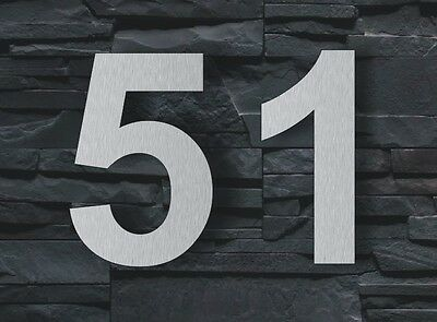 House Number Arial 15cm Stainless Steel high quality Signs Sign Modern design