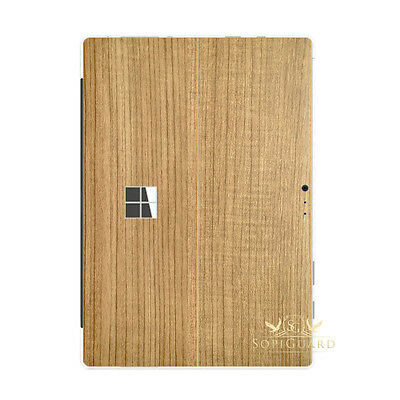 SopiGuard Light Wood Vinyl Skin Rear Back Film for Microsoft Surface Pro 4