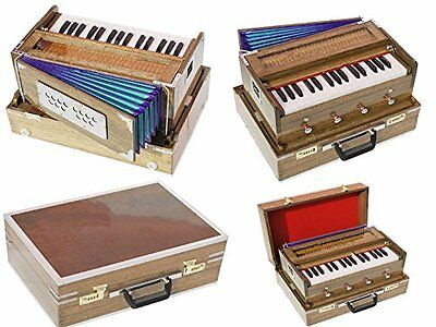 HOME DECOR EDH Harmonium-Mini Traveler-Peti-Baja- Octave-440Hz-Yoga-BhajanKirtab