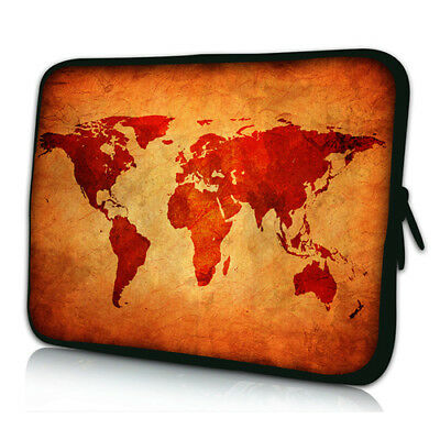 Design Schutzhülle - Brown Global Map, 15,6 Zoll (39,6cm) Notebook Laptop Tasche
