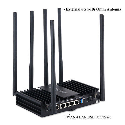 Afoundry Wireless Router 2.4GHz 300M+5Ghz 867M 6x7dBi Antenna Router