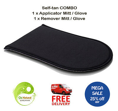 Tan Applicator and Remover Mitt Glove Combo - Free Postage - SALE ON 25% off RRP