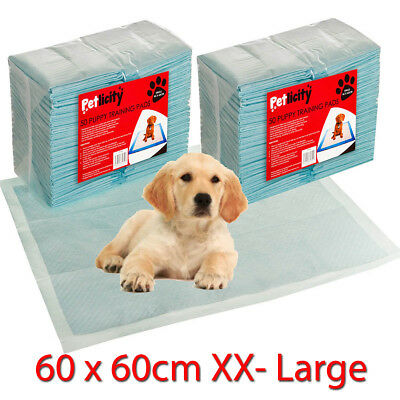 Dog Puppy XX Large Training Pads Absorbent Pad Wee Floor Toilet Mats 60 x 60cm