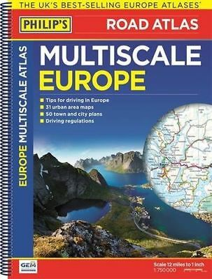 Philip's Multiscale Europe 2016: Spiral A3 (Road Atlas Europe) - 1849073783