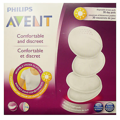 Philips Avent Breast Care 30 Disposable Day Breast pads Plus 2 Night pads FREE