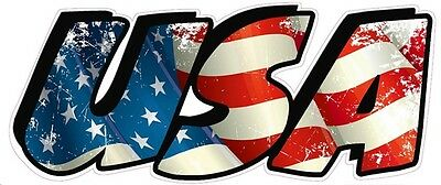 """American Flag USA Lettering Large Magnet Decal 12"""""""