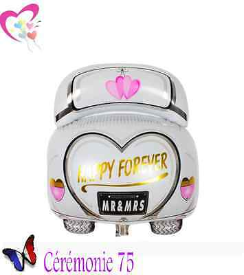 "Ballon Voiture ""mr & Mrs Happy Forever"" Decoration Mariage"