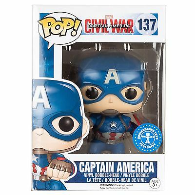 Funko POP CAPTAIN AMERICA Civil War vinyl bobble-head #137 capitan action pose