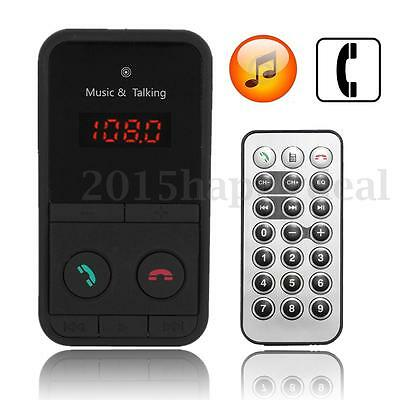 Car Wireless Bluetooth Mp3 Fm Radio Transmitter For Iphone 5 6 Ipod Samsung Htc