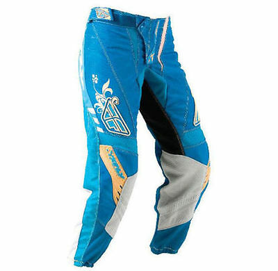 Fly Racing Girl Women Kinetic dirt bike motocross Pants Aqua / Sand size 3/4 28""