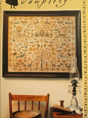 His Eye Is On The Sparrow Sampler Cross Stitch CHART-435x363 Stitches, Heartstri