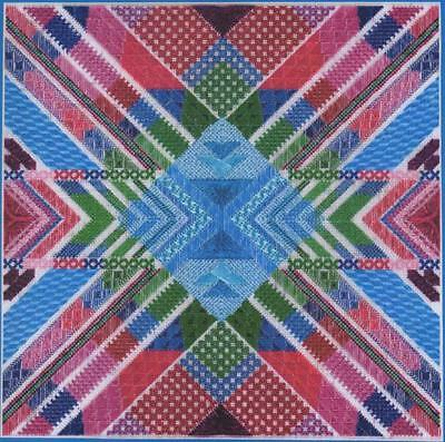 DebBee's Designs Kaleidoscope Canvaswork Pattern-216x216 Stitches