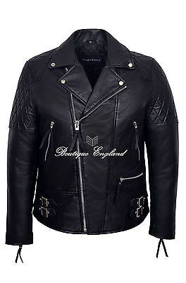'RECKLESS' Men's Black Biker Style Motorcycle Real Soft Lamb Leather Jacket