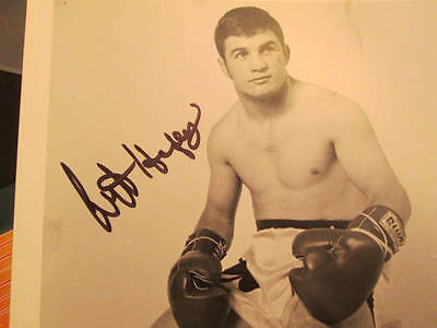 Canadian Boxer Art Hafey Hand Signed Autographed Photo 8x10 B&W