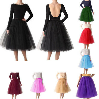 3 Layers Tulle Skirt Vintage Dress 50s Rockabilly Tutu Petticoat Ball Gown M-5XL