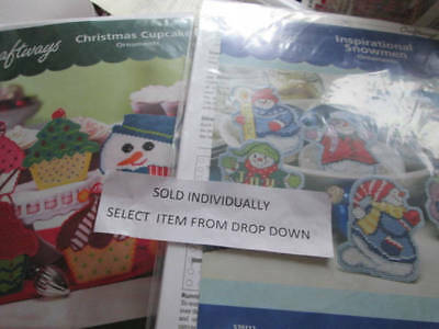 Craftways Christmas Plastic Canvas Ornaments Kit Your Choice Christmas Cupcakes
