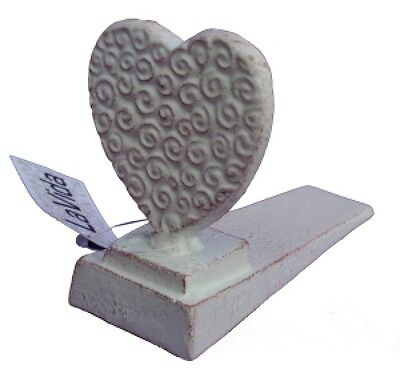 Doorstop Heart Cast Iron Home Decor New Vintage
