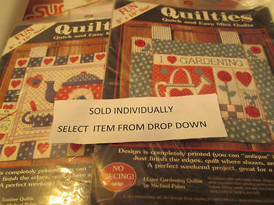 Michael Palan Quilties Wall Hanging Kit Your Choice-Gardening OR Teatime-8x10 In