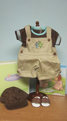 NEW American Girl Bitty Twins Jungle Overalls Set-Retired/NIB