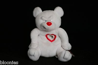 Meanies Valentines HEARTLESS BEAR 1999 Bean Bag Plush Toy Doll NWT
