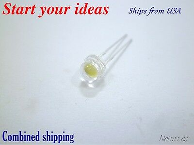 10 Pcs LED 5mm Cool White 0.15 Watt Wide Angle Bright High Power LEDs 0.15w