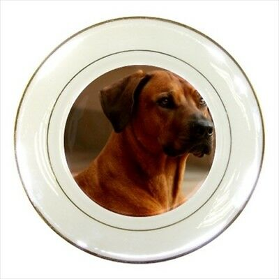 Dog Norwick Terrier Porcelain Plate w// Display Stand